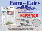 Farm and Dairy Scratch-Off Ticket